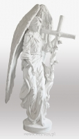 Anioł z krzyżem-angel-nagrobny-kamień-biały-wisnios-3