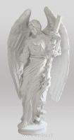 Anioł z krzyżem-angel-nagrobny-kamień-biały-wisnios-5