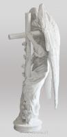 Anioł z krzyżem-angel-nagrobny-kamień-biały-wisnios-6