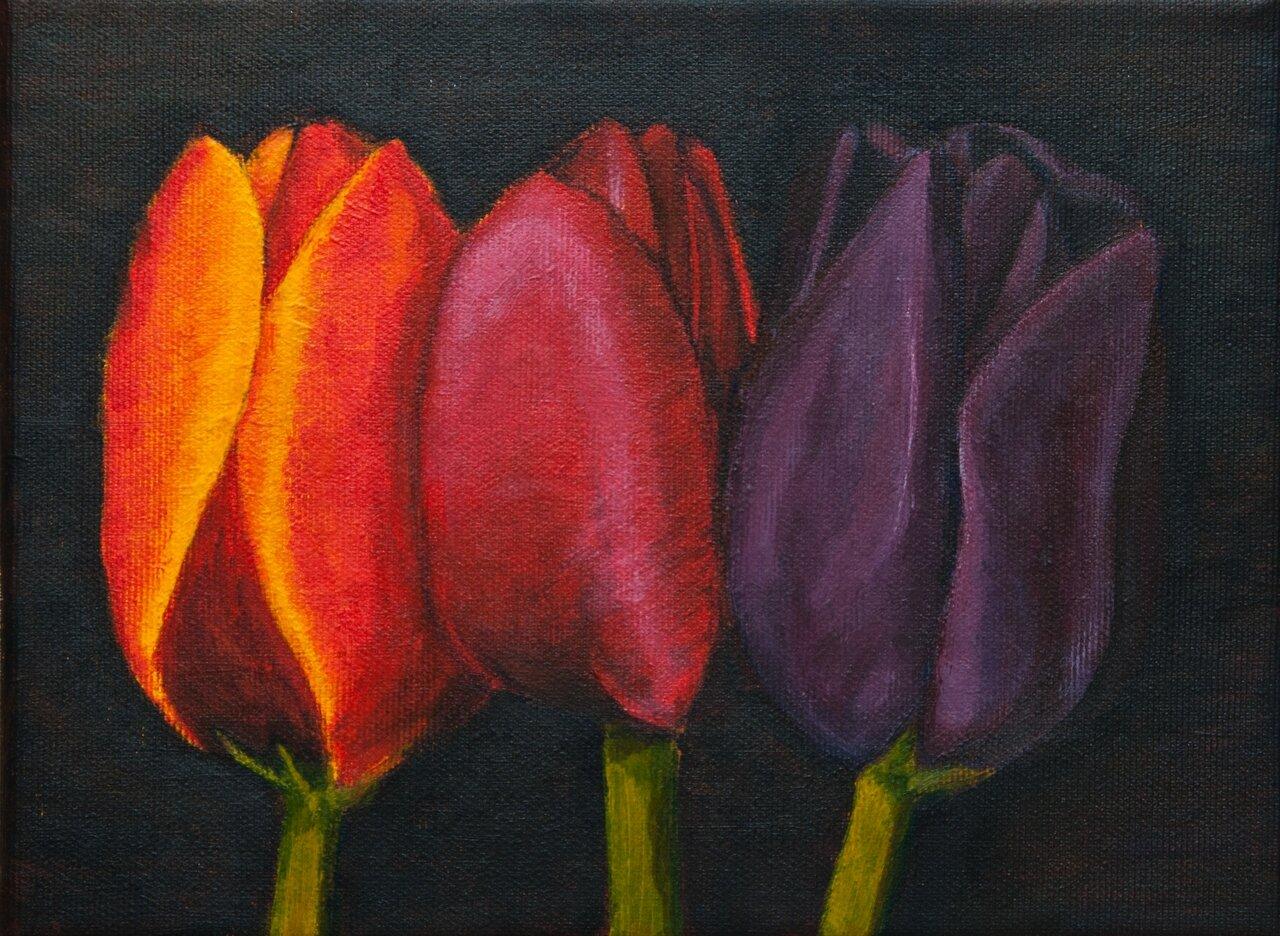 Tulipany 18x24 akryl n