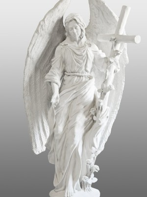 Anioł-z-krzyżem-angel-nagrobny-kamień-biały-wisnios-10