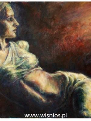 Poranek-obraz-kobieta-światło-wiśnios-1