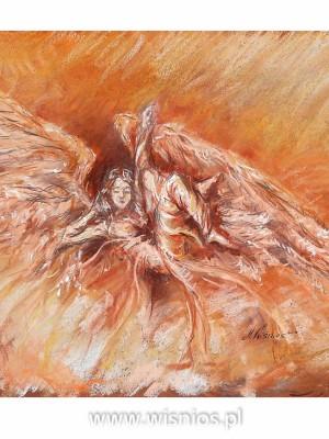 Przebudzenie-Anioła-rysunek-pastele-wiśnios-1