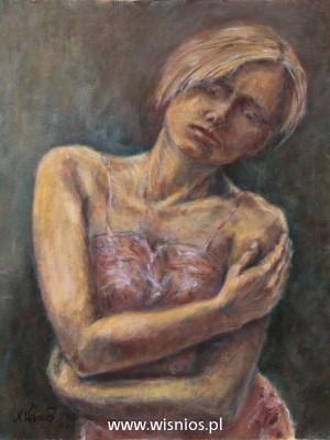 samotna-obraz-akryl-kobieta-portret