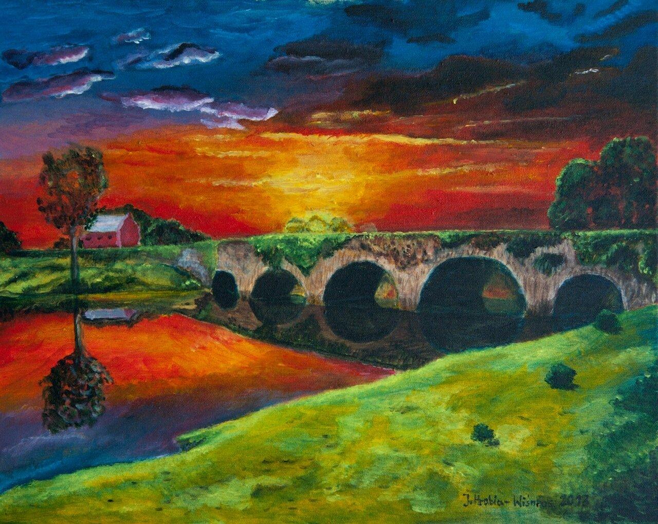 Pejzaż z mostem